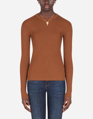 Dolce & Gabbana Fine-Rib Wool Sweater
