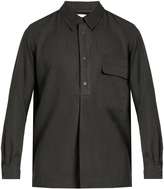 Lemaire Cotton and cashmere-blend shirt