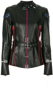 Alexander McQueen Whip-Stitched leather jacket