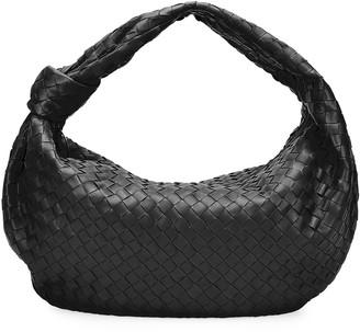 Bottega Veneta Intrecciato Woven Leather Large Hobo Bag