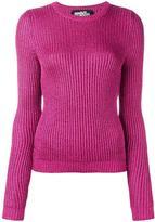 Jeremy Scott ribbed crew neck jumper - women - Polyester/Rayon - 40