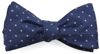 The Tie BarThe Tie Bar Classic Blue Dotted Dots Bow Tie