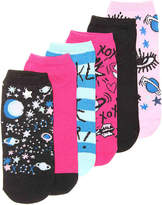 Betsey Johnson Women's Space Women's No Show Socks - 6 Pack