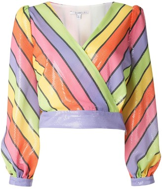 Olivia Rubin Kendall rainbow stripe blouse
