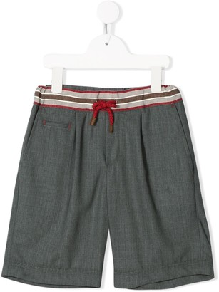 BRUNELLO CUCINELLI KIDS Drawstring Waist Knee-Length Shorts