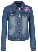 George Floral Embroidered Slogan Denim Jacket