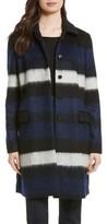 Diane von Furstenberg Women's Stripe Wool Blend Coat