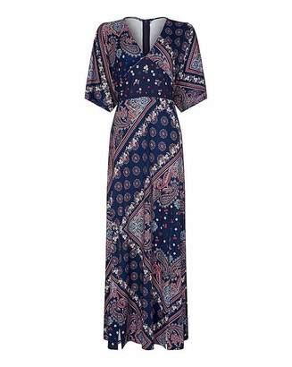 Yumi Curves Scarf Print Maxi Dress