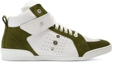 Jimmy Choo Lewis high-top leather and suede trainers