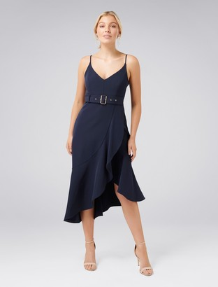 Ever New Isabella Petite Belted Ruffle Hem Dress