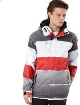 Quiksilver Red Last Mission Stripe Print Jacket
