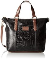 Tignanello Borought Palm Embossed Vintage Tote Convertible Shoulder Bag