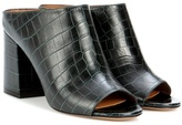 Givenchy Paris 9 Leather Open-toe Mules