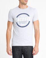Lacoste Grey Logo Round-Neck T-Shirt