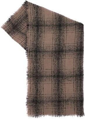 Faliero Sarti Mila Checked Virgin Wool Blend Scarf
