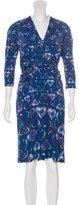 Roberto Cavalli Printed Knee-Length Dress