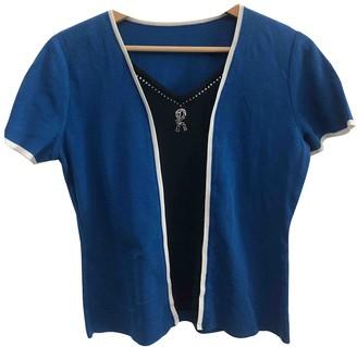 Roberta Furlanetto Blue Cotton Knitwear for Women