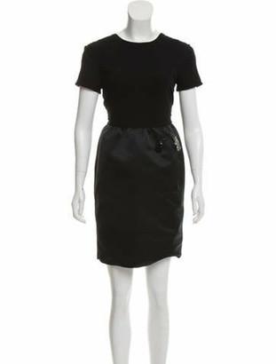 Rochas Embellished Mini Dress Black