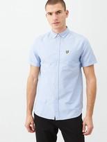 Lyle & Scott Short Sleeved Oxford Shirt - Light Blue