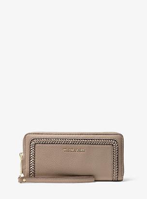 MICHAEL Michael Kors Lexington Large Pebbled Leather Continental Wristlet
