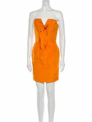 Oscar de la Renta 2008 Mini Dress w/ Tags Orange