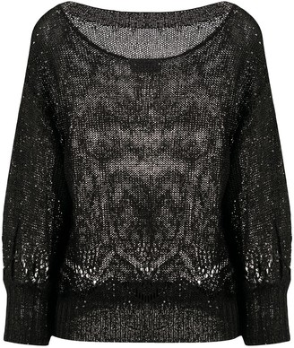 Snobby Sheep Sequin-Embellished Relaxed-Fit Jumper