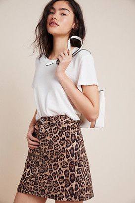 BB Dakota Leopard-Printed Mini Skirt By in Assorted Size 2