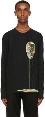 Alexander McQueen Black Skull Print Long Sleeve T-Shirt