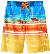 ZeroXposur Boys 4-7 Sharks & Striped Abstract Swim Trunks