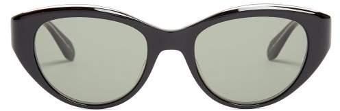 Garrett Leight Del Rey 50 Cat Eye Frame Sunglasses - Womens - Black Multi