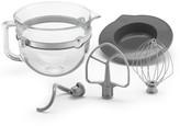 KitchenAid F-Series 6-Quart Glass Bowl Accessory Bundle - KSMF6GB