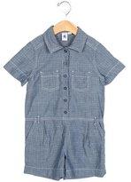 Petit Bateau Girls' Polo Button-Up Romper