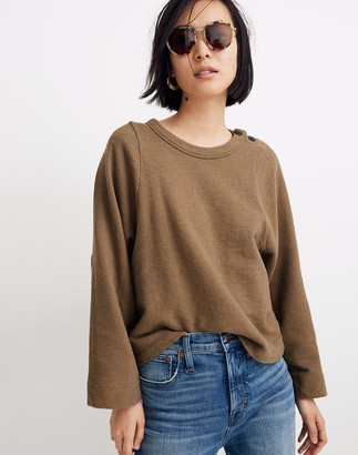 Madewell Shoulder-Button Elbow-Patch Top