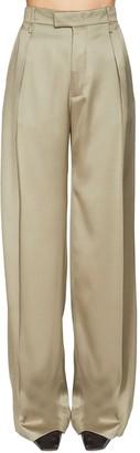 Bottega Veneta Cupro Twill Wide Leg Pants