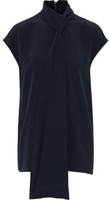 Tibi Tie-neck Silk Crepe De Chine Top
