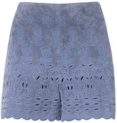 Exclusive for Intermix Melanie Suede Eyelet Shorts