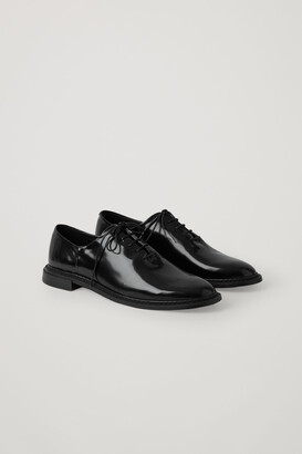 Cos Patent Leather Lace-Up Brogues