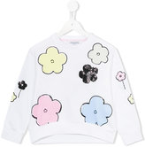 Simonetta sequin flower sweatshirt - kids - Cotton/Spandex/Elastane - 2 yrs