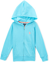 U.S. Polo Assn. Turquoise Zip-Up Hoodie - Toddler & Girls