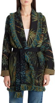 Alanui Monkey Jungle Jacquard Metallic Wool Blend Cardigan