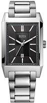 HUGO BOSS Square Black Dial Stainless Steel Quartz Men's Watch 1512917