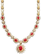 Effy Royalty Inspired by Ruby (4-3/8 ct. t.w.) and Diamond (1-5/8 ct. t.w.) Necklace in 14k Gold