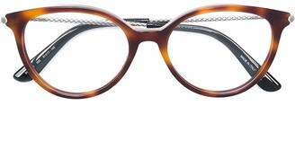 Bottega Veneta Tortoiseshell Frame Glasses