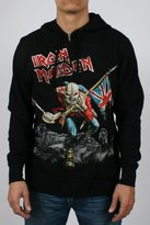 Global Iron Maiden Scuffed Trooper Zip Hoodie Adult Zip Hoodie in , Size:, Color: