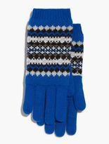 Talbots Bluesy Fair Isle Gloves