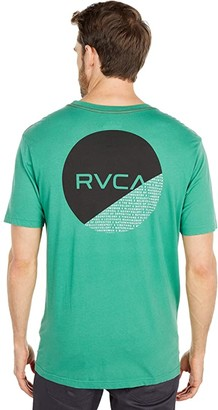 RVCA Fraction Short Sleeve (Bottle Green) Men's Clothing