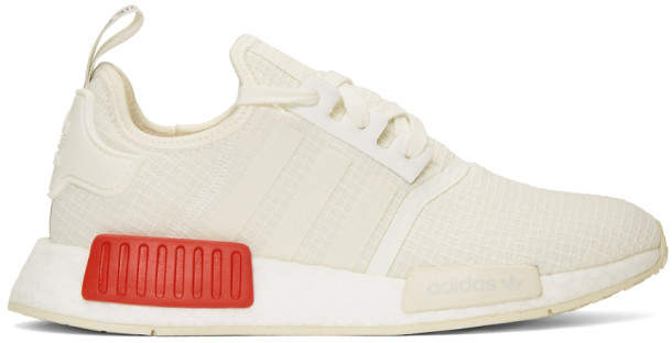 adidas White NMD-R1 Boost Sneakers