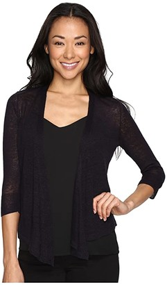 Nic+Zoe Petite 4 Way Cardy (Midnight) Women's Sweater