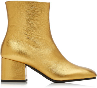 Marni Metallic Leather Ankle Boots