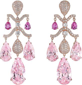 Anabela Chan 18K Rose Gold Pink Sapphire Chandelier Earrings